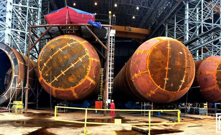 Bullet tank for Petronas Rapid Project - Malaysia -