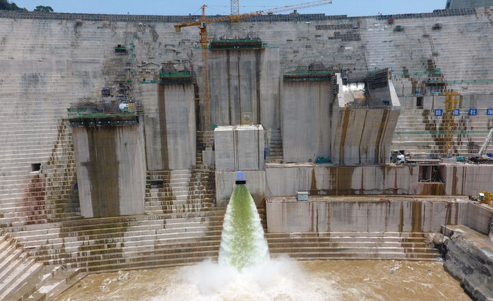 Bottom Outlet at Nam Theun 1 Hydro Power Project (Laos) -