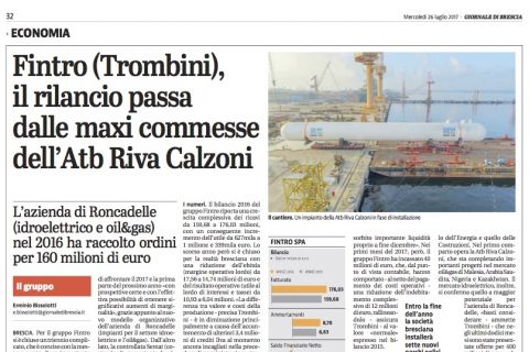 Fintro Group, the relaunch goes through the ATB Riva Calzoni's orders