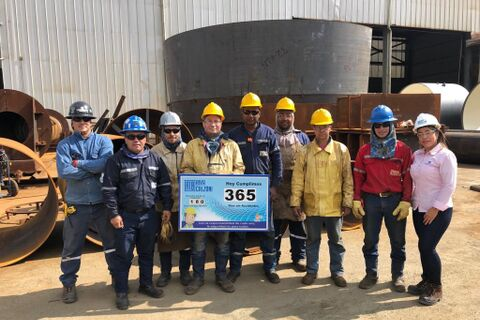 ATB Colombia: one year Lost Time Injury free