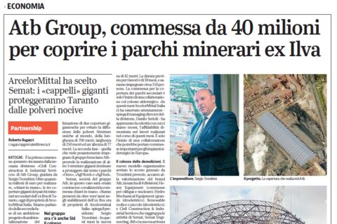 Semat Taranto: new collaboration with ArcelorMittal